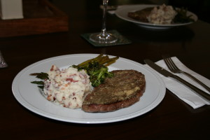 Garlic-Bacon Mashed Red Potatoes and Steak!
