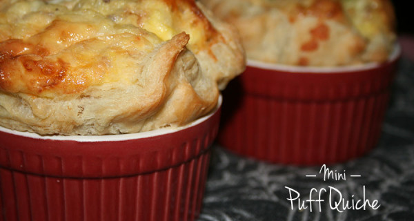 Mini Puff Quiche
