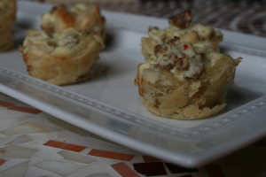 Sausage Ricotta Puffs
