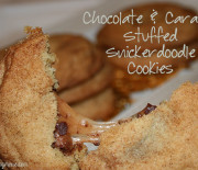 Chocolate and Caramel Stuffed Snickerdoodle Cookies