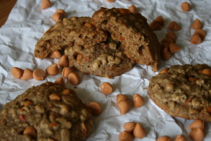 Oatmeal, Carrot, and Butterscotch Chip Cookies
