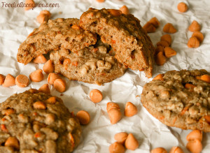 Oatmeal Carrot Butterscotch Cookies