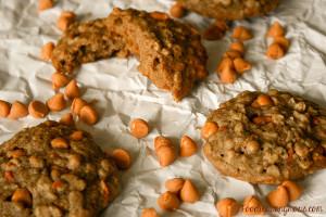 Oatmeal Carrot Butterscotch Cookies