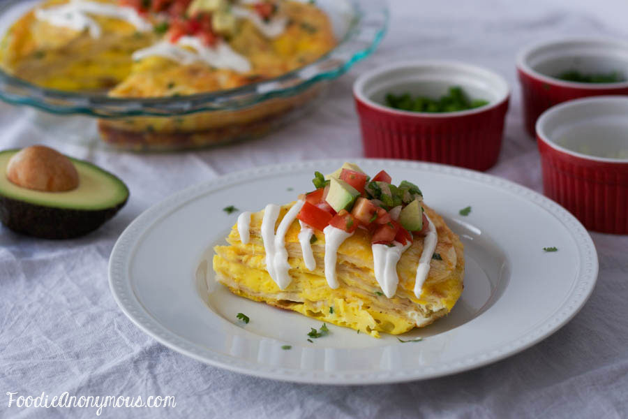 Tortilla Egg Pie