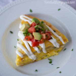 Tortilla Egg Pie