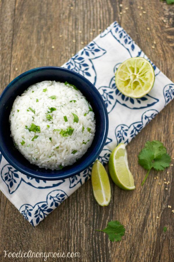 Cilantro Lime Rice – www.FoodieAnonymous.com