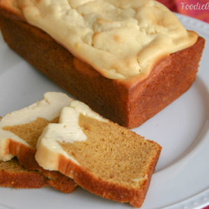 Cream Cheese Pumpkin Spice Bread - FoodieAnonymous.com
