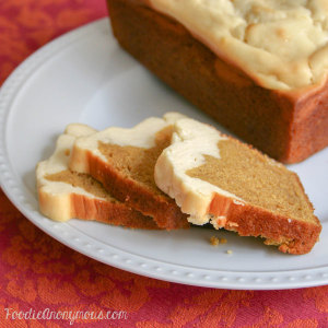 Cream Cheese Pumpkin Bread - www.FoodieAnonymous.com