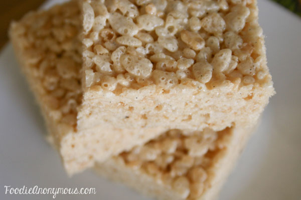 Browned Butter Vanilla Bean Rice Krispie Treats