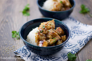 Honey Sesame Chicken - www.FoodieAnonymous.com