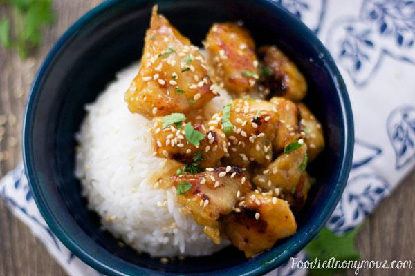 Honey Sesame Chicken - www.FoodieAnonymous.com