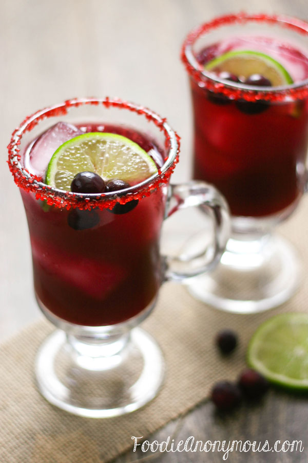 Cranberry Lime Margarita - www.FoodieAnonymous.com