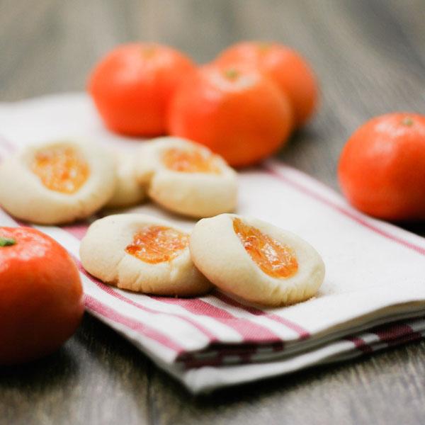 Orange Marmalade Thumbprint Cookies - www.FoodieAnonymous.com