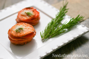 Sweet Potato Stacks - FoodieAnonymous.com